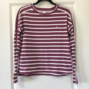 Jack Wills Pink Striped Long Sleeve Top